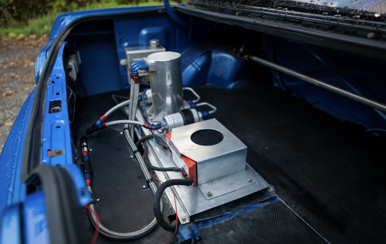 dry sump setup drag car