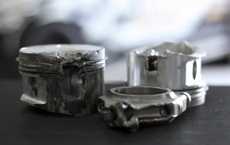 melted pistons